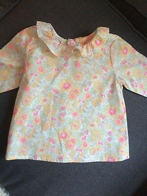 Bonpoint Liberty Print Baby Top Blouse 6 months NWT