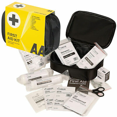 AA First Aid Kit Bag Medical Car Emergency Travel Essentials Caravan Workplace