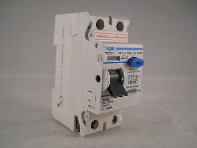 Hager RCD 63 Amp 30mA Double Pole 63A RCCB 164502 CD263U