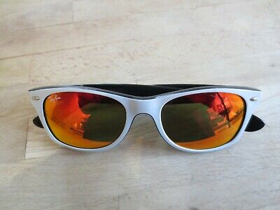 Frame White Sunglasses Black New Custom Ray Wayfarer Ban nwOk0P