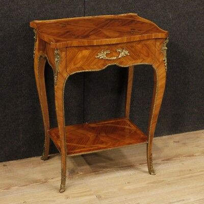 Small table bedside french wooden inlaid furniture bronze antique style 900