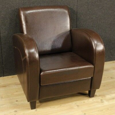 Armchair chair furniture seat English leather design modern living room 900