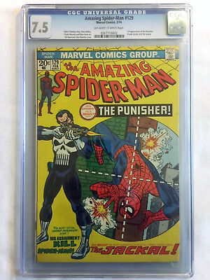 amazing spiderman 129 cgc 7.5 1st Punisher