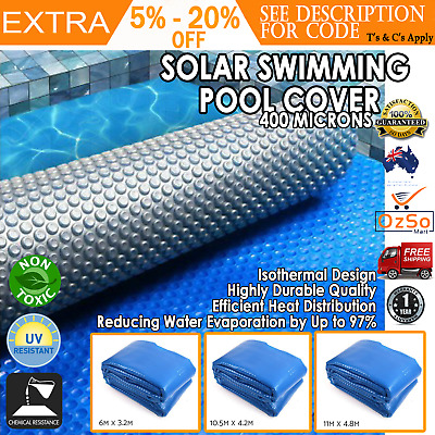 THERMAL SOLAR SUN Swimming Pool Bubble Cover Sheet Blanket Silver ...