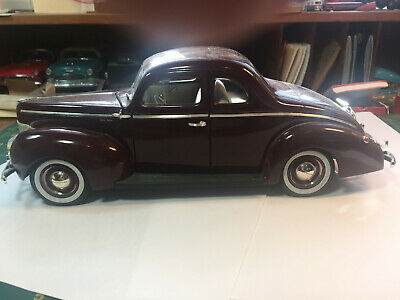 1940 Ford Coupe by ERTL in Burgandy 1:18 Scale Die Cast