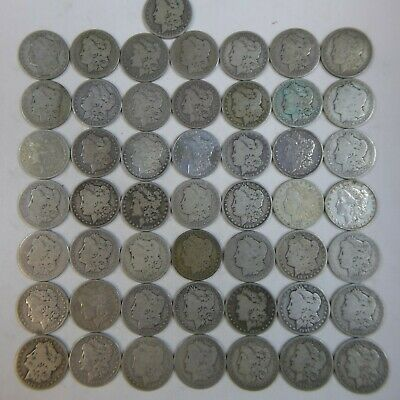 1878-1901 Morgan Silver Dollar Culls Pre-1921 Mix Dates Lot of 50 Coins