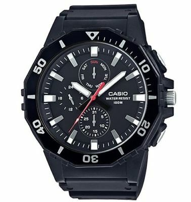 Casio MRW400H-1AV, Oversized Dial, Resin Band, Day/Date, 3-Eye Dial, 100 Meter