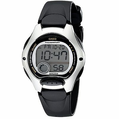 Casio LW200-1AV, Women's Digital Watch, Black Resin Band, Chronograph, Alarm