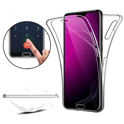 360 Full Cover Silicone Front + Back Glass Case Cover For Huawei P SMART (2019)