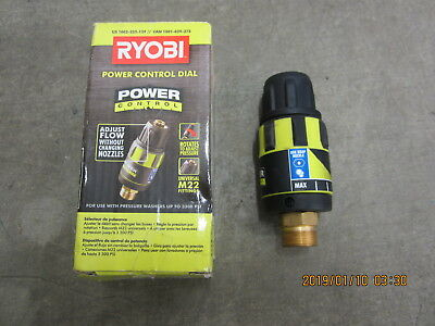 New Ryobi Power Control Dial Adjust Flow Without Changing Nozzles Up To 3300 Psi