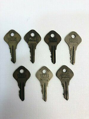 Vintage Lot of 7 Yale & Towne Mfg. Co. Keys – PS930, PS925, PS921, PS779, PS798,