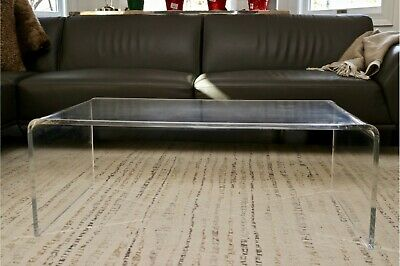 "Vintage Mid Century Modern Lucite Coffee Table 38"" Long"