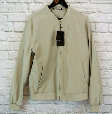 b3d7ab85 NWT ZARA MAN Beige Bomber Jacket XL RUNS SMALL 42