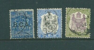 BRITISH CENTRAL AFRICA used stamp trio