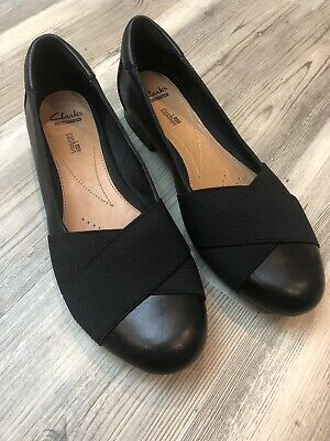 CLARKS COLLECTION CUSHION Soft High Heel Womens Shoes Black