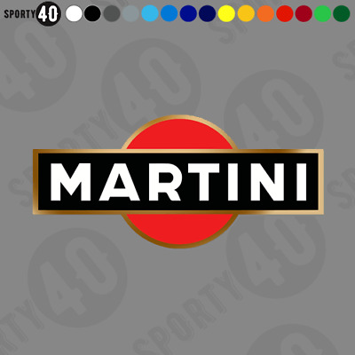 Martini Rally Race - Vinyl Decal/ Sticker - Le Mans F1 Supercup 911 3113-0219