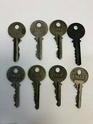 Vintage Mixed Lot of 8 Yale & Towne Mfg. Co. Keys, USED, Free Shipping