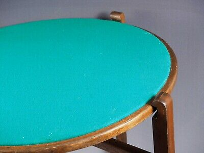 Antique Gaming Coffee TABLE England Wood Folding REVERTABLE