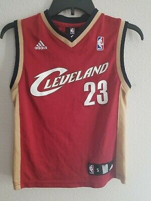 Youth Adidas Cleveland Cavaliers Lebron James Jersey  23 SIze Small (8) Red d1b2fcf91