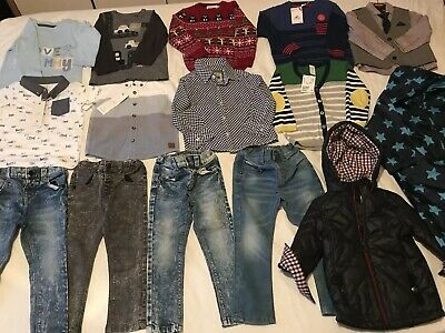 Large Bundle Of Baby Boy Clothes 12-24months Mostly NEW & NEXT