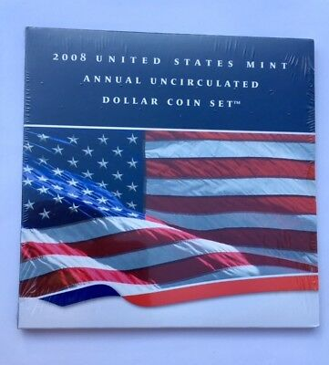 2008 United States Mint-Annual Uncirculated Dollar Coin Set-Unopened