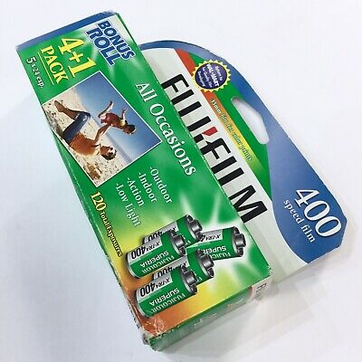 35mm Fujifilm Superia X-tra Color 400 Speed 5 Pack New Old Stock Film (EXP 2009)