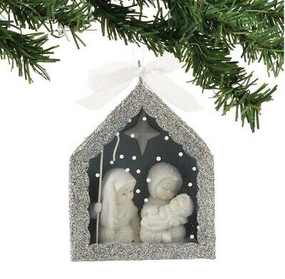 Department 56 Snowbabies SnowDream Nativity Shdow Box Ornament 4027355 R18