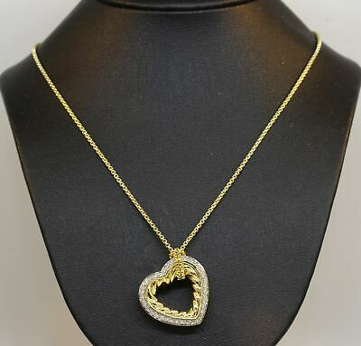 Stunning 18K Yellow Gold David Yurman Necklace With Diamonds! 12.5 Grams #n80