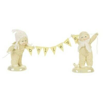 Department 56 Snowbabies SnowDream Believe Figure, Set of 2 4059029 R18 Banner