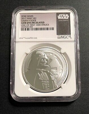 2017 $2 Niue - Star Wars Darth Vader NGC Gem Uncirculated - One Of First 1000!