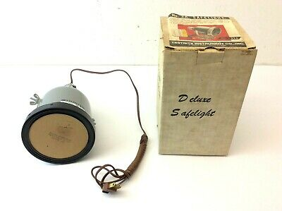 Vintage No 3A Safelight Testrite Instrument Co USA Industrial Darkroom Light