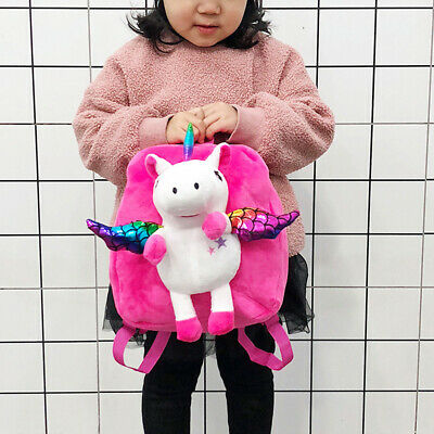 1pc Toddlers Backpack Cute Cartoon Plush Unicorn Preschool Backpack for Toddlers