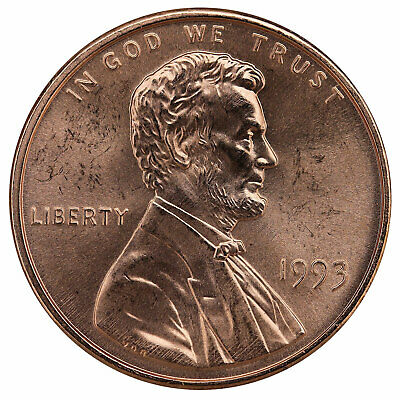 1993 Lincoln Memorial Cent BU Penny US Coin