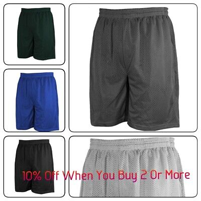 Mens Basketball Shorts Gym Fitness Workout Mesh Shorts Hip Hop (S-5Xl)