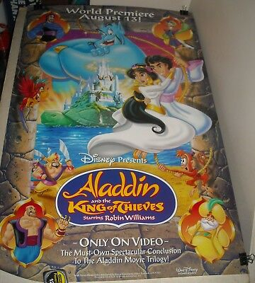 DISNEY ALADDIN and the KING of THIEVES VIDEO 1 SHEET MOVIE POSTER ROBIN WILLIAMS