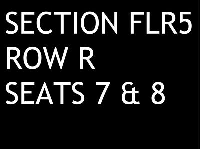 Two (2) Floor tickets for the Fleetwood Mac concert in Albany, NY on 3/20/2019