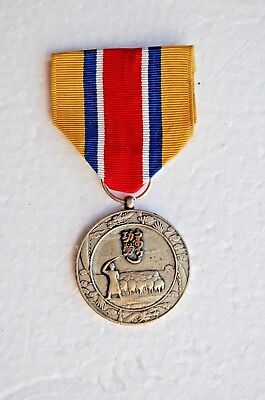 CHINA 1940s JAPAN MONGOLIA PUPPET GOVERNMENT NATIONAL FOUNDATION SILVER MEDAL