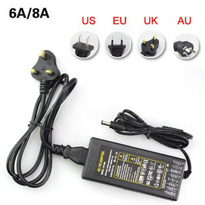 DC 12V 1A-10A Power Supply Adapter Charger Transformer for 3528/5050 LED Strip
