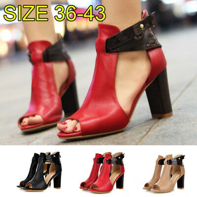 80695a1251 Women Peep Pointed Closed Toe Stiletto Sandals High Heels Buckle Strappy  Shoes