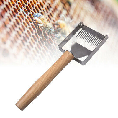 Beekeeping Tool Stainless Steel Bee Hive Uncapping Honey Fork Scraper Shovel New