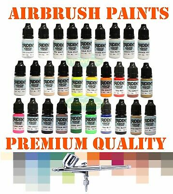 Dna Trident Airbrush Paint Colors Spray Gun Water Based 10Ml Like Createx Wicked
