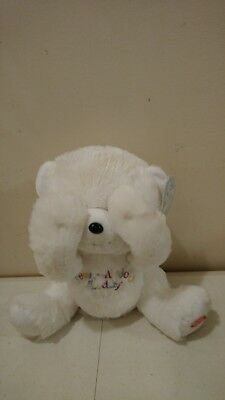 "ADORABLE PEEK A BOO  talking Animated Bear Plush  Giggles International 10"" tall"