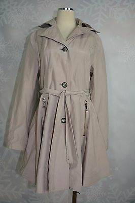 9a68ad31254 I.N.C. INTERNATIONAL CONCEPTS Trench Coat Silver Gray with belt size ...