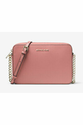 1deee956f043 MICHAEL KORS LEATHER Phone Crossbody Wallet Rose 32T8TF5C9T-622 MSRP ...