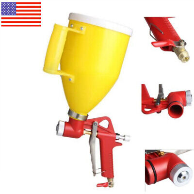 Painting 3 Nozzle Air Hopper Spray Gun Paint Texture Tool Drywall Wall Sprayer
