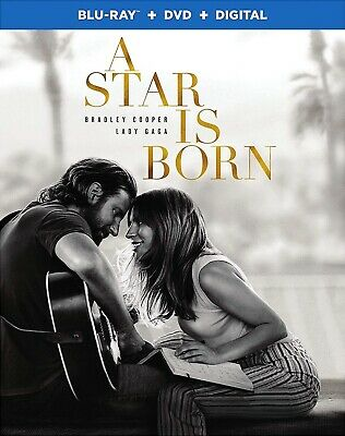 A Star Is Born (2018) Blu-ray/DVD/Digital, Brand NEW Lady Gaga, Bradley Cooper,