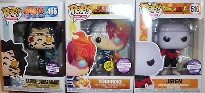 Set of 3 POP Sasuke - Todoroki - Jiren  Pax South Limited Convention Exclusive