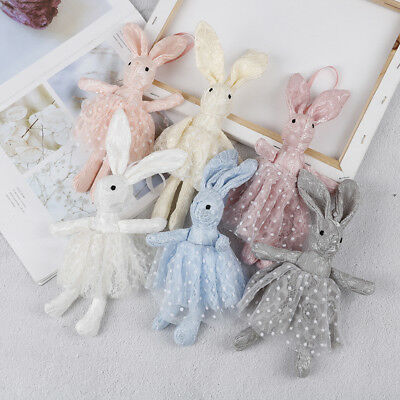 Soft lace dress rabbit stuffed plush animal bunny toy for baby girl kid gift-toy