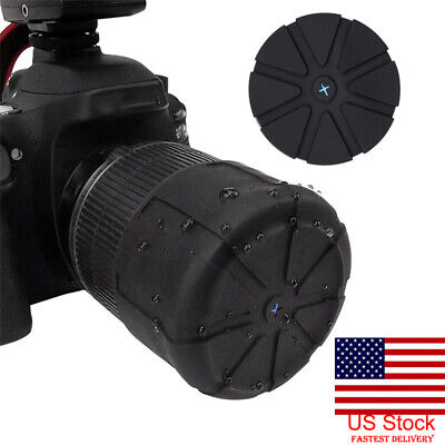 US Universal Stretchy Silicone Lens Cap Cover For 62mm DSLR Camera Waterproof