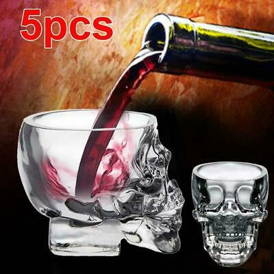 5pc Crystal Skull Head Shot Glass Red Wine Vodka Cup champagne Glass Ball Bar BN